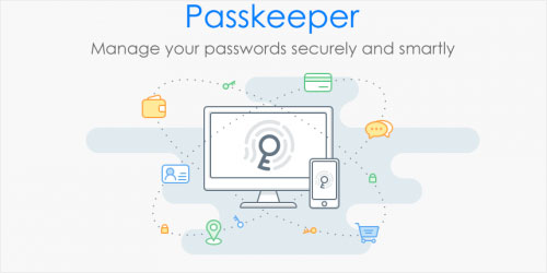 Now, Passkeeper can help you remember all passwords securely and smartly!